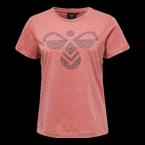 hummel-aw-fauna-tee-201-605-3494-dame-t-shirt-roed-a